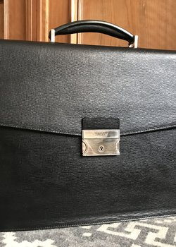 Sold Bally leather briefcase
