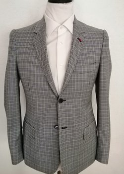 RARE ISAIA Napoli EU46R US36R Suit Green Check Suit RRP: 4950 USD
