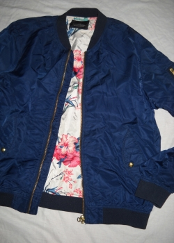 Scotch & Soda mens navy blue bomber jacket XL