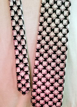 ZILLI Tie Gorgeous Black & White Geometric Pattern - Never Worn