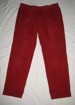 BURBERRY mens wine red corduroy pants trousers size 52 (39/31)