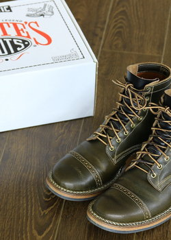 White's Boots Bounty Hunter Waxed Flesh Olive 55 Last 10 D