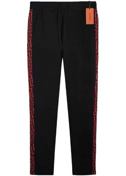 MISSONI Slim Logo Side-Stripe Sweatpants Track Lounge Pants Black L