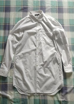 Comme des Garcons Homme Plus SS16 White Cotton Long Dress Shirt