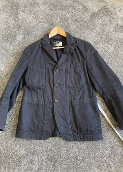 FS - Engineered Garments Bedford Jacket Navy Whipcord Cotton - XS