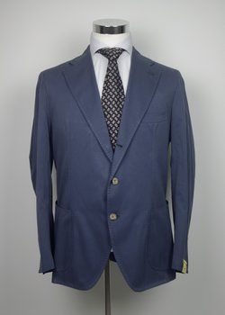 NWT GABO NAPOLI FRENCH BLUE CASHMERE COTTON TWILL SUIT US44 46/EU56