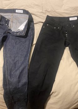 $60 For Two Pair of  New Gustin Slim Sz 30 Blue/Black