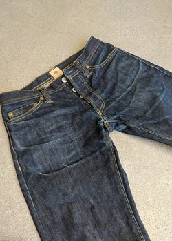 SOMET 003 Low Rise Straight 13.8oz Japanese Selvedge Denim Jeans - 28