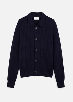 [SOLD] AMI Paris Heavyweight Merino Wool Polo Cardigan (Size M)