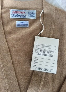 SOLD - Original BALLANTYNE new old stock Cardigans Made in Scotland