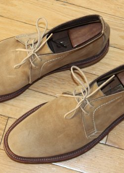 More Price Drop! Excellent Condition Alden Men Tan Suede Unlined Chukka Boot US 6.5 B/D w/ Trees