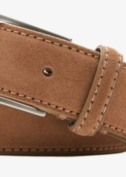 SuitSupply Brown Suede Belt (new with tags)