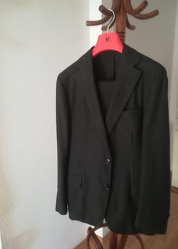Flawless Pal Zileri Sartoriale Charcoal Unstructured Wool Suit EU50R Drop 8