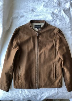 Golden Bear SF Made in USA Vintage Tan Brown Nubuck Leather Jacket
