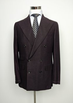 NWT SAINT ANDREWS Dark Brown Micro Houndstooth Cashmere DB Blazer EU50