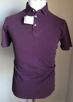 NWOT BRUNELLO CUCINELLI PURPLE POLO MEDIUM $100 MSRP $545