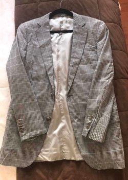 Price Reduction $2995 Ermenegildo Zegna Mila Fit Plaid Blazer