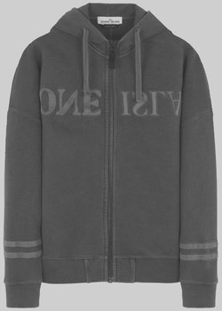 Ended | Stone Island Old-Dye Cotton Fleece Zip-Up Hoodie Logo-Embroidered S-M