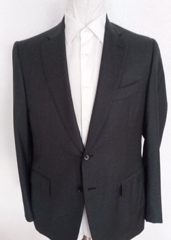 NWT Recent ISAIA Napoli Solid Gray Suit EU52R US42R Drop 7 RRP: $3999