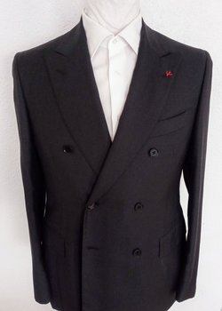 NWT Recent ISAIA Napoli DB Suit Charcoal Microcheck EU50R US40R Drop 7 RRP:$4570