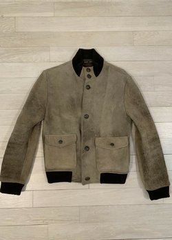 * DROP * Frank Leder Deerskin leather Bomber Jacket XS