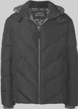MISSONI Chevron Quilted Down Jacket Removable Hood L