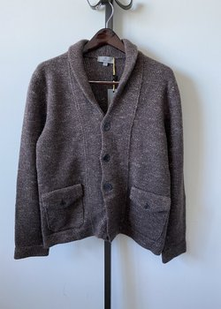 Canali Marbled Shawl Cardigan Size 50 (fits like a M/L) - Cash / Wool / Silk