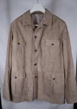 Alfredo Rifugio Napoli Suede Leather Safari Jacket