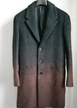 Neil Barrett Gradient Belt Alpaca Wool Coat