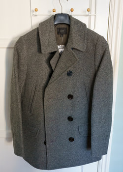J.Crew Dock Peacoat with Thinsulate - Grey - XS