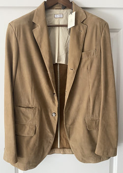 NWT Cucinelli Leather Jacket
