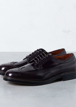 NWOB COLOR 8 ALDEN SHELL CORDOVAN LONGWING BLUCHERS MULTIPLE SIZES