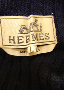 Excellent condition Hermes navy roll neck
