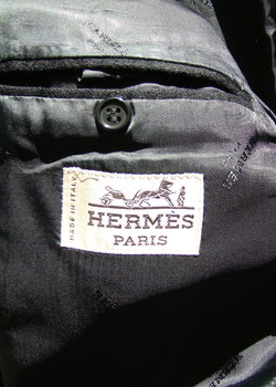 Hermes black cashmere jacket 50 8 R Used condition