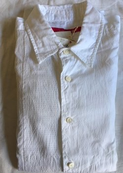 Sage de Cret Tonal Patchwork White Shirt Size Large BNWT * DROP *