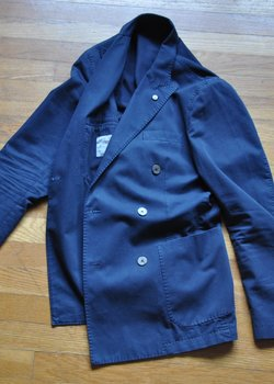 * DROP * L.B.M.1911 Navy Double Breasted Jacket