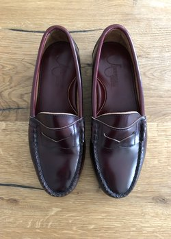 AMERICAN FOOTWEAR PENNY LOAFERS 7.5UK