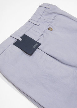 BNWT INCOTEX Chinolino - Lilac Cotton/Linen Chinos Trousers Pants - Regular Fit - Size 48