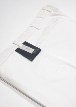 SOLD - BNWT INCOTEX White Slim Fit Cotton Chinos Trousers Pants - Size 52