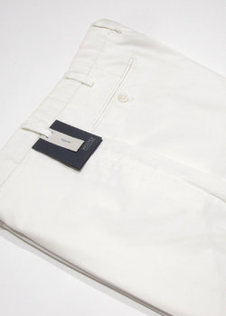 N°2 pairs of BNWT INCOTEX White Regular Fit Cotton Chinos Pants - Size 54 and 56