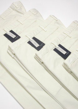 N°5 pairs of BNWT INCOTEX Ivory Slim Fit Cotton Chinos Pants - Size 48/50/52/56