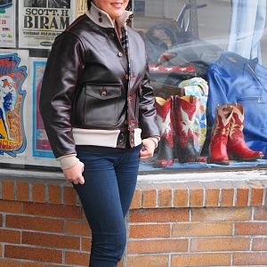 Aero A-1 in Front Quarter Horsehide!  Great looking leather jacket!