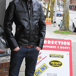 Aero Cafe' Racer in Front Quarter Horsehide!  Great looking leather jacket!