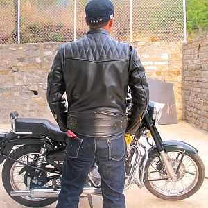 Vanson Chopper Leather Cafe' Racer Jacket from Insurrection Performance / Thurston Bros. Rough Wear