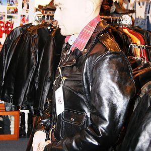 Aero J106 Front Quarter Horsehide leather jacket from Insurrection / Thurston Bros.