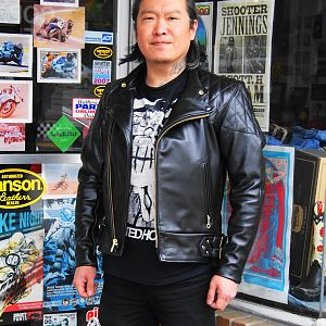 Vanson Chopper from Insurrection and Thurston Bros.  Great looking leather jacket!