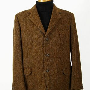 Vintage heavyweight Harris Tweed jacket, circa 1960's.