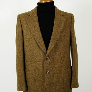Patch pocket Harris Tweed jacket.