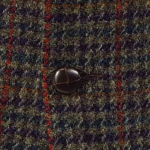 Houndstooth Harris Tweed Jacket With Overcheck