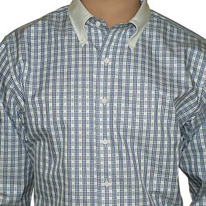 Button Down contrast collar on a Luxire Custom Shirt